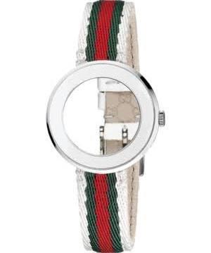 2e0abc5e352 Gucci Women s U-Play Silver Guccisima Leather Watch Strap and Bezel 35mm  YFA50033