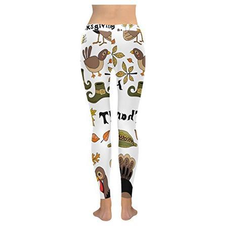 7ecff63a40a338 ... Custom Autumn Thanksgiving Turkey Stretchy Capri Leggings Skinny Pants  for Yoga Running Pilates Gym ...
